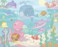 Walltastic-baby-under the sea