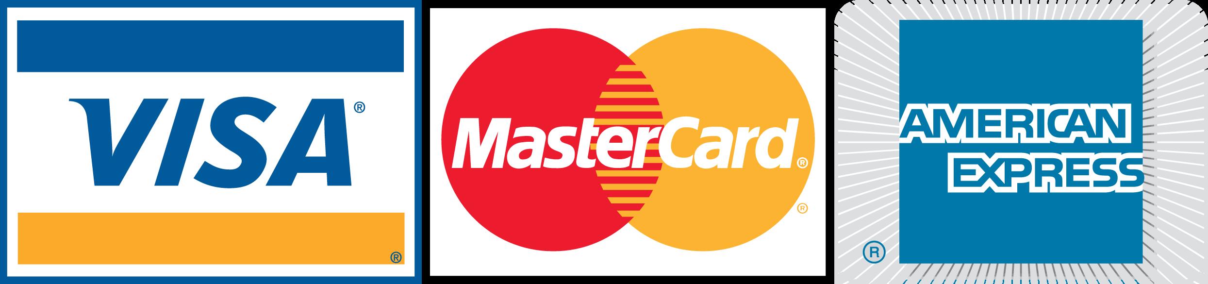 Logotyp, Visa, Matercard, Amex